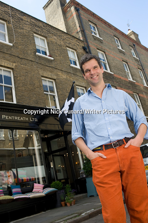 Ben Pentreath - renowned London based interior designer and writer also referred to as architectural and urban designer and columnist for FT -  new book 'English Decoration published by Ryland , Peters and Small ' published September 06 2012. Pictured at his office cum shop, The English House , 17a Rugby Street  London WC1N 3QT . Picture taken 09/07/2009<br /> <br /> Photograph by Nick Cunard/Writer Pictures