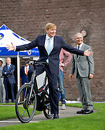 Dieren, 03-09-2015<br /> <br /> King Willem-Alexander opened the new factory of the Royal Gazelle bicycle <br />  Factory .<br /> Photo:Royalportraits Europe/Bernard Ruebsamen