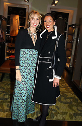 Left to right, MRS ASHLEY HICKS and MRS SOL KERZNER at a jewellery party hosted by Osanna Visconti and Pia Marocco at Allegra Hick's shop, 28 Cadogan Place, London on 25th November 2004.<br />