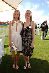 Left to right, sisters POPPY DELEVINGNE and CHLOE DELEVINGNE at the Cartier International polo at Guards Polo Club, Windsor Great Park on 29th July 2007.<br />