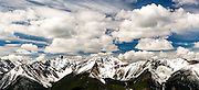 Snow on the Rocky Mountains in Canada