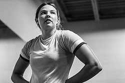 Kate Hall, asics pro track and field athlete, cross-training workout at gym