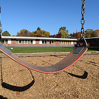The playground area of the former Edwards Elementary School is now part of Sewallcrest Park.