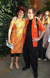 TV presenter RUBY WAX and HARRY SHEARER the voice of Mr Burns in The Simpsons  at the annual House of Lords v House of Commons tug of war match in aid of  of  Macmillan Cancer Relief on 21st June 2005.  A drinks reception was held in College Gardens followd by the tug of war on Victoria Tower Gardens, London.                                 <br />