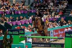 DEVOS Pieter (BEL), Comme-Laude W<br /> Leipzig - Partner Pferd 2020<br /> Glas Strack Speed Cup<br /> Zeitspringprfg., international<br /> Höhe: 1.45 m<br /> 18. Januar 2020<br /> © www.sportfotos-lafrentz.de/Stefan Lafrentz