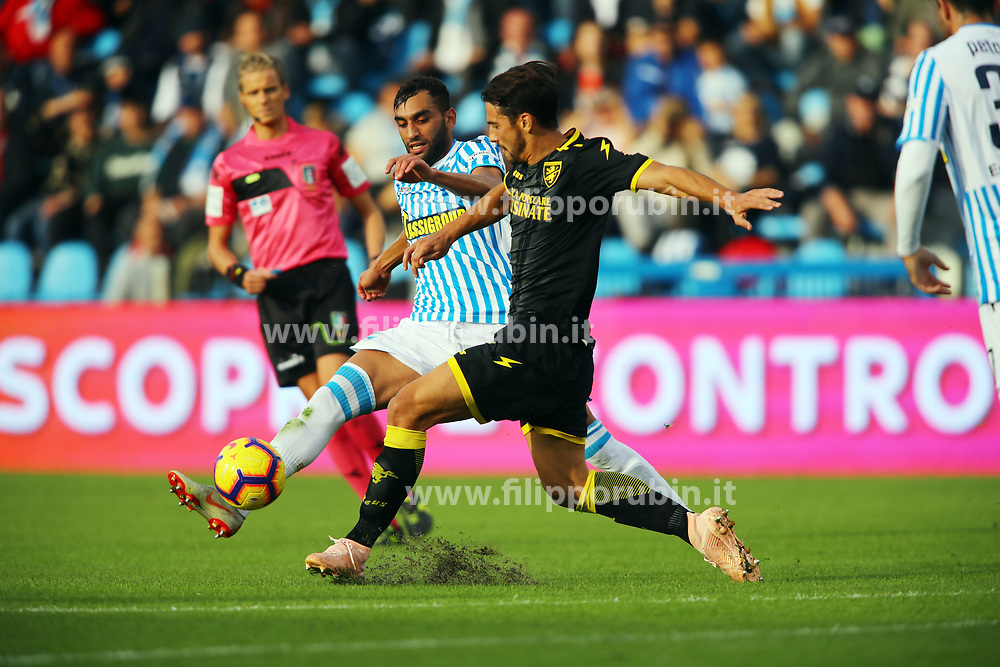 "Foto Filippo Rubin<br /> 28/10/2018 Ferrara (Italia)<br /> Sport Calcio<br /> Spal - Frosinone - Campionato di calcio Serie A 2018/2019 - Stadio ""Paolo Mazza""<br /> Nella foto: MOHAMED FARES (SPAL)<br /> <br /> Photo Filippo Rubin<br /> October 28, 2018 Ferrara (Italy)<br /> Sport Soccer<br /> Spal vs Frosinone - Italian Football Championship League A 2018/2019 - ""Paolo Mazza"" Stadium <br /> In the pic: MOHAMED FARES (SPAL)"