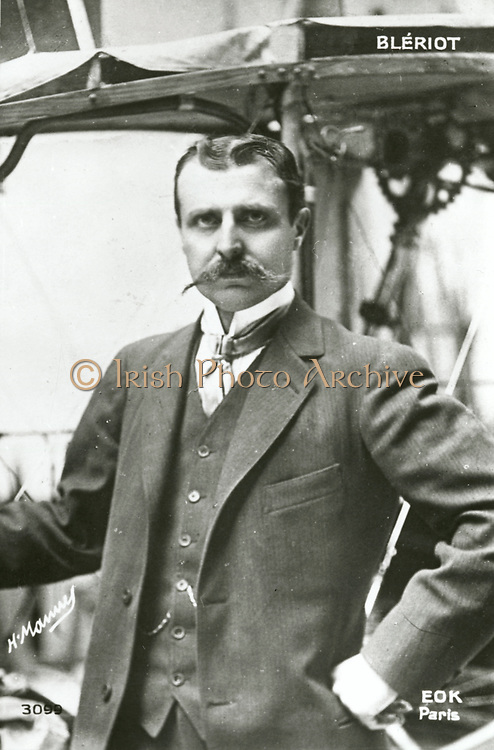 'Louis Charles Bleriot (1872-1936) French aviator, engineer and inventor. In 1909 he was the first to fly across the English Channel in a heavier that air machine.'