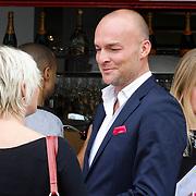 NLD/Amsterdam/20130912 - Talkies Terras Lunch 2013, Marc Lubach in gesprek met Lone van Rozendaal