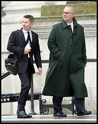 Andrew Pierce and Iain Dale attend Lady Thatcher's funeral at St Paul's Cathedral following her death last week, London, UK, Wednesday 17 April, 2013, Photo by: Andrew Parsons / i-Images