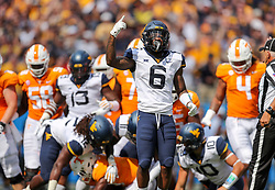 Sep 1, 2018; Charlotte, NC, USA; West Virginia Mountaineers safety Dravon Askew-Henry (6) celebrates after a play against the Tennessee Volunteers during the first quarter at Bank of America Stadium. Mandatory Credit: Ben Queen-USA TODAY Sports