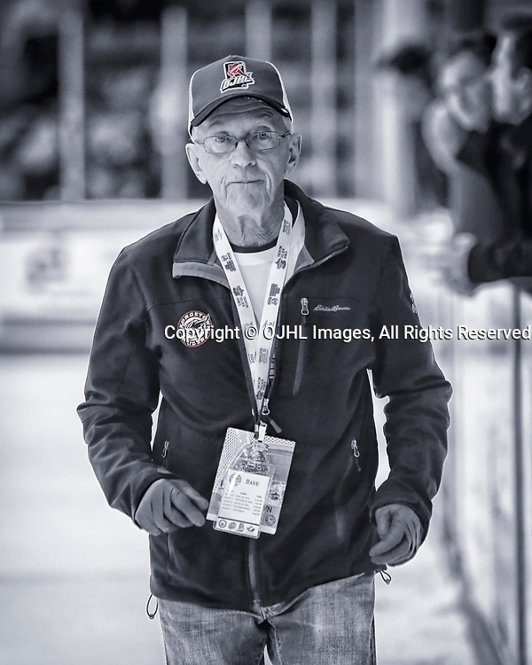 TRENTON, ON  - MAY 2,  2017: Canadian Junior Hockey League, Central Canadian Jr. &quot;A&quot; Championship. The Dudley Hewitt Cup. Around The Dudley Georgetown Raiders Staff <br /> (Photo by Amy Deroche / OJHL Images)
