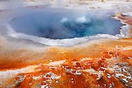 Fuente termal Crested Pool en Upper Geyser Basin, Yellowstone NP, Wyoming (Estados Unidos)