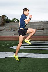 Ben True, elite runner, works out at Dartmouth track