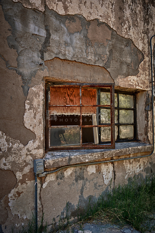 Grunge wall of abandoned home in Florence, Arizona