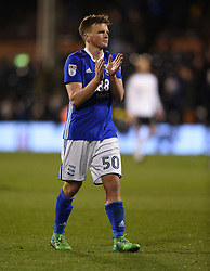 Birmingham City's Stephen Gleeson applauds the away fans at full time