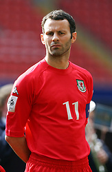 CARDIFF, WALES - SATURDAY MARCH 26th 2005: Wales' captain Ryan Giggs lines up before the Wold Cup Qualifying match against Austria at the Millennium Stadium. (Pic by David Rawcliffe/Propaganda)