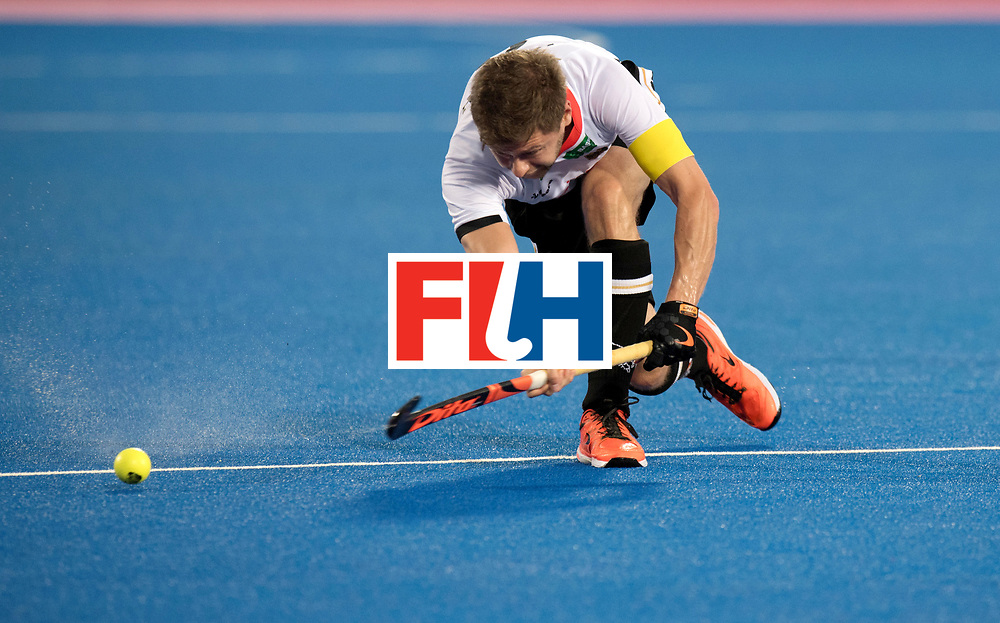 Odisha Men's Hockey World League Final Bhubaneswar 2017<br /> Match id:01<br /> Germany v England<br /> Foto: Martin Haener (Ger) 200e match.<br /> WORLDSPORTPICS COPYRIGHT FRANK UIJLENBROEK