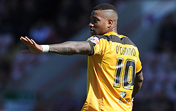 Newport County's Aaron O'Connor - Photo mandatory by-line: Harry Trump/JMP - Mobile: 07966 386802 - 06/04/15 - SPORT - FOOTBALL - Sky Bet League Two - Exeter City v Newport County - St James Park, Exeter, England.