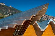 Ysios Bodega winery futuristic architecture at Laguardia in Rioja-Alavesa wine-producing area of Basque country, Spain