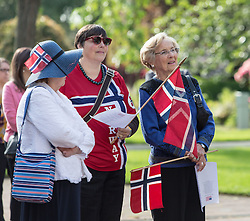Syttende Mai (17th of May) celebration of the Norwegian Constitution at PLU on Tuesday, May 17, 2016. (Photo: John Froschauer/PLU)