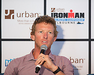 Luke Bell (AUS) (Melbourne Based 19 Time IRONMAN 70.3 Winner). Ironman Melbourne Triathlon Press Launch 2013. Etihad Stadium, Melbourne, Victoria, Australia. 25/02/2013. Photo By Lucas Wroe