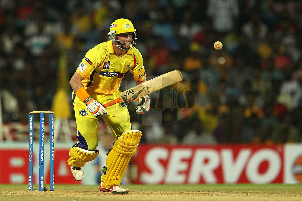 Michael Hussey during match 3 of the NOKIA Champions League T20 ( CLT20 )between the Chennai Superkings and the Mumbai Indians held at the M. A. Chidambaram Stadium in Chennai , Tamil Nadu, India on the 24th September 2011..Photo by Ron Gaunt/BCCI/SPORTZPICS