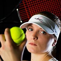 Laura True poses for tennis portait on December 18, 2007.