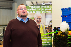 Medway Street Angels Founder Neil Charlick addresses the gathering at the opening of FareShare's relocated warehouse in Ashford, Kent. Ashford, Kent, May 23 2019.