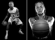 All-area basketball players of the year Terrell Mabins, of Martin County High School, and Megan Gorman, of Vero Beach High School, are photographed in Stuart on March 23 and 24, 2015. (XAVIER MASCAREÑAS/TREASURE COAST NEWSPAPERS)