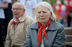 May 21, 2017 - Tambov, Tambov region, Russia - Older people in pioneer  ties of the USSR times (Credit Image: © Aleksei Sukhorukov via ZUMA Wire)