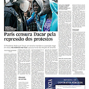 "Tearsheet of ""Senegal: pre-election violence"" published in Expresso"