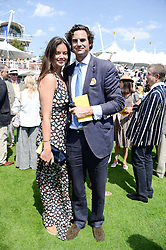 LADY NATASHA RUFUS ISAACS and her husband RUPERT FINCH at the 3rd day of the 2013 Glorious Goodwood racing festival - Ladies day at Goodwood Racecourse, West Sussex on 1st August 2013.
