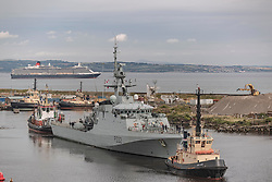 Hms Forth arrives in Edinburgh for the very first time to be guardship for The Tattoo<br />14th August 2019<br />www.davecullenphotography.co.uk<br />© Dave Cullen Photography 2019