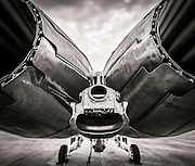 Exhaust and arresting hook of a Blue Angels F-18 Super Hornet.  Naval Air Station Pensacola, Florida.  Created by aviation photographer John Slemp of Aerographs Aviation Photography. Clients include Goodyear Aviation Tires, Phillips 66 Aviation Fuels, Smithsonian Air & Space magazine, and The Lindbergh Foundation.  Specialising in high end commercial aviation photography and the supply of aviation stock photography for commercial and marketing use.