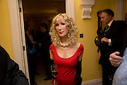 BASIA BRIGGS, Mrs. Richard Briggs at home to celebrate Catherine Meyer's birthday. Sloane Gardens. London. 28 January 2009 *** Local Caption *** -DO NOT ARCHIVE-© Copyright Photograph by Dafydd Jones. 248 Clapham Rd. London SW9 0PZ. Tel 0207 820 0771. www.dafjones.com.<br /> BASIA BRIGGS, Mrs. Richard Briggs at home to celebrate Catherine Meyer's birthday. Sloane Gardens. London. 28 January 2009