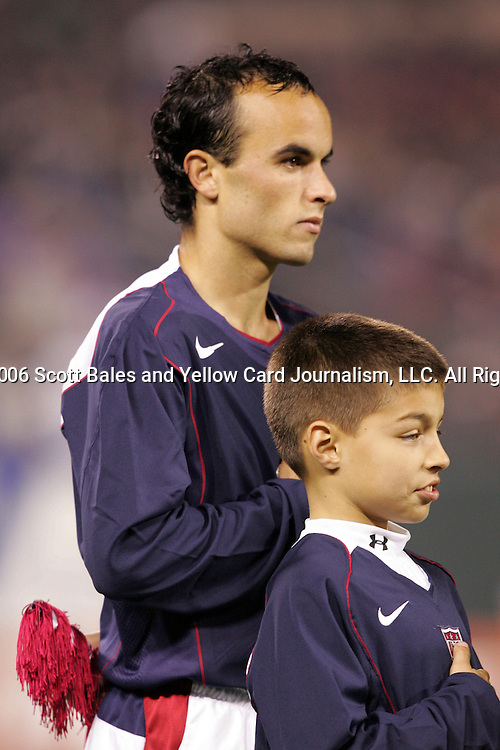 10 February 2006: Landon Donovan of the U.S. The United States Men's National Team defeated Japan 3-2 at SBC Park in San Francisco, California in an International Friendly soccer match.