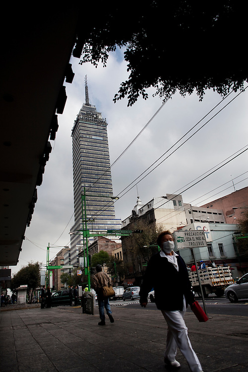 The Torre Latinoamericano in Mexico City.