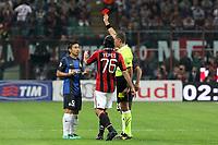 "Espulsione Yuto Nagatomo Inter<br /> Milano 07/10/2012 Stadio ""San Siro""<br /> Football Calcio Serie A 2012/13<br /> Milan v Inter<br /> Foto Insidefoto Paolo Nucci"