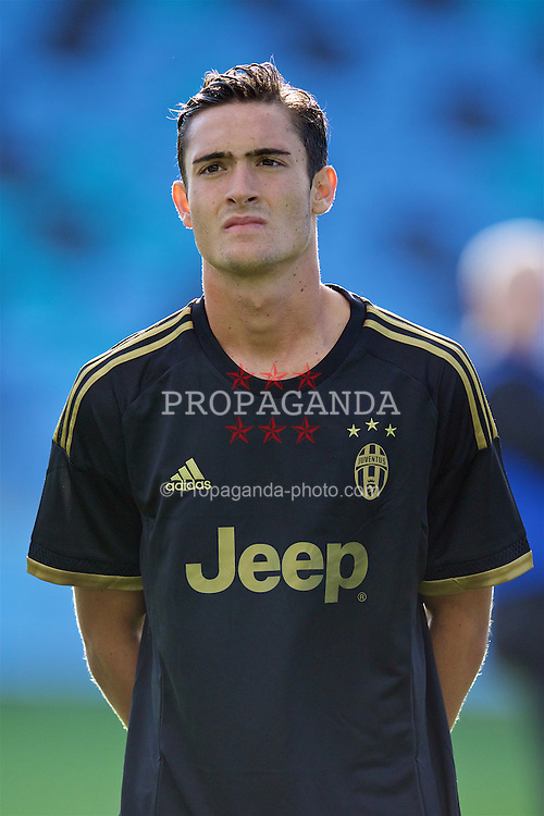 MANCHESTER, ENGLAND - Tuesday, September 15, 2015: Juventus' Francesco Cassata before the UEFA Youth League Group D match against Manchester City at the City of Manchester Stadium. (Pic by David Rawcliffe/Propaganda)