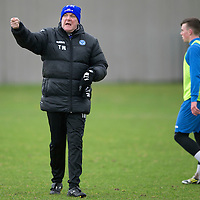 St Johnstone manager Tommy Wright pictured during training this morning ahaed of Saturday's League Cup semi-final against Aberdeen...28.01.14<br /> Picture by Graeme Hart.<br /> Copyright Perthshire Picture Agency<br /> Tel: 01738 623350  Mobile: 07990 594431