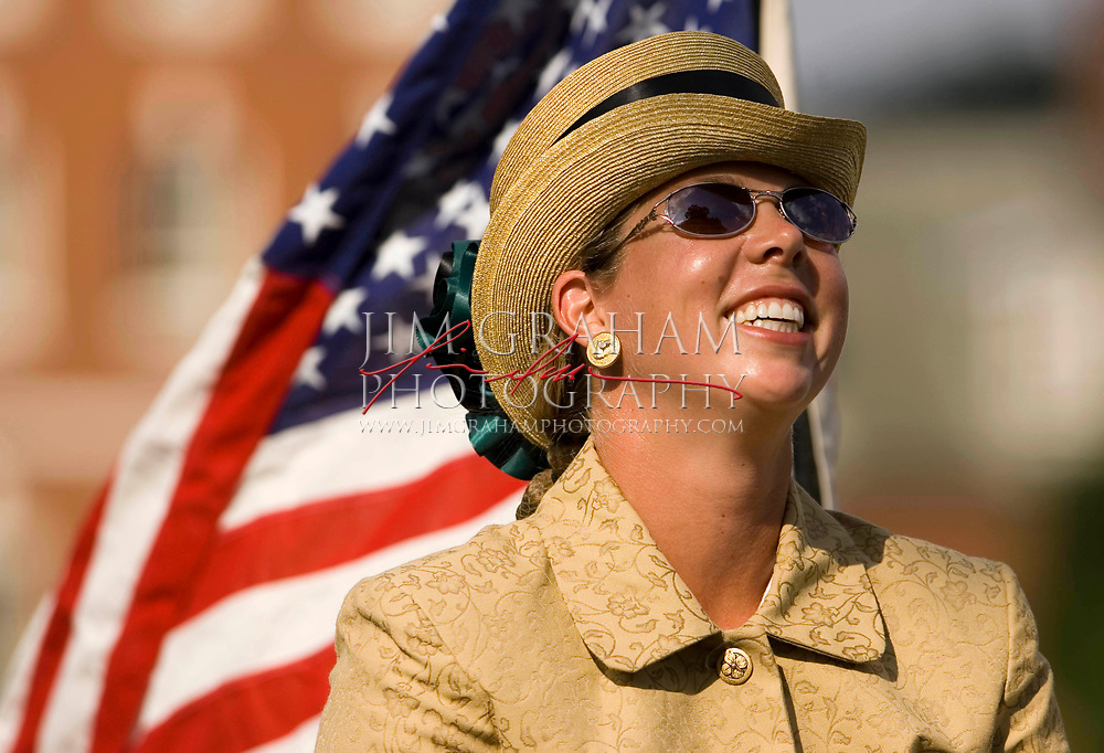 Suzy Stafford becomes the first American to win the gold at the Pony World Championships, Sunday,  July 17, 2005 (Photograph by Jim Graham)