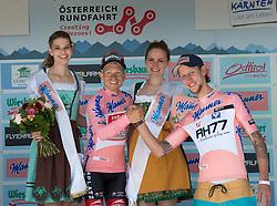07.07.2016, Villach, AUT, Ö-Tour, Österreich Radrundfahrt, 5. Etappe, Millstatt auf den Dobratsch, im Bild v.l. Hermann Pernsteiner (AUT, Team Amplatz - BMC) und Martin Koch Schisprung // during the Tour of Austria, 5th Stage from Millstatt nach Dobratsch. Villach, Austria on 2016/07/07. EXPA Pictures © 2016, PhotoCredit: EXPA/ Reinhard Eisenbauer