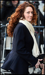 Former Editor of the News of the World Rebekah Brooks arrives to continue giving evidence in the Phone hacking trial at The Old Bailey, London, United Kingdom. Wednesday, 26th February 2014. Picture by Andrew Parsons / i-Images