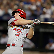 NEW YORK, NEW YORK - July 27: Jedd Gyorko #3 of the St. Louis Cardinals batting during the St. Louis Cardinals Vs New York Mets regular season MLB game at Citi Field on July 27, 2016 in New York City. (Photo by Tim Clayton/Corbis via Getty Images)
