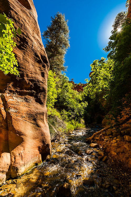Slot canyon, Kanarra Creek Falls, near Cedar City, Utah USA