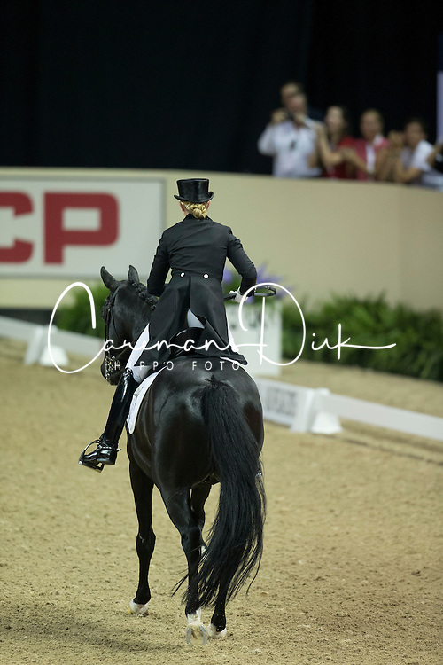 Barbancon Mestre Morgan, (ESP), Painted Black <br /> Kur<br /> Reem Acra FEI World Cup&trade; Dressage Final<br /> Las Vegas 2015<br />  &copy; Hippo Foto - Dirk Caremans<br /> 18/04/15