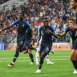 Paul Pogba of France celebrates during the World Cup Final match between France and Croatia at Luzhniki Stadium on July 15, 2018 in Moscow, Russia. (Photo by Anthony Dibon/Icon Sport)