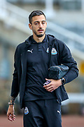 Joselu (#21) of Newcastle United arrives ahead of the Premier League match between Newcastle United and Watford at St. James's Park, Newcastle, England on 3 November 2018.