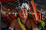 Davi Kopenawa - most famous indigenous leader of Brazil. President of Hutukara - Yanomami association - reelected in 2012. In his village of Watoriki.
