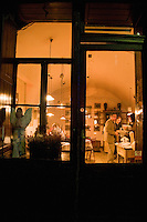 Camelot Cafe at night in the Old Town in Krakow Poland